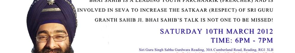 Inspirations Bhai Navreet Singh Sat 10 March @ 6pm